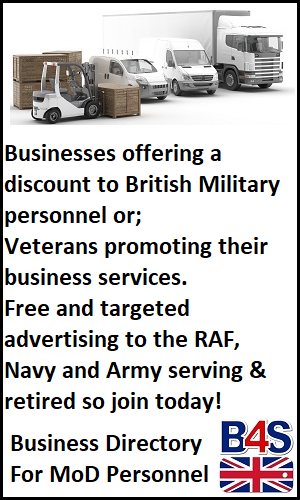 Business directory for army, navy & raf